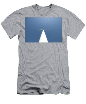 White On Blue Men's T-Shirt (Athletic Fit) by Carl Young