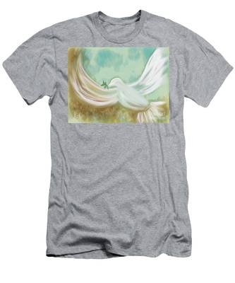 Wings Of Peace Men's T-Shirt (Athletic Fit)