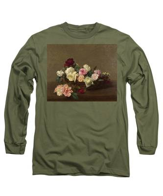A Basket Of Roses Long Sleeve T-Shirt