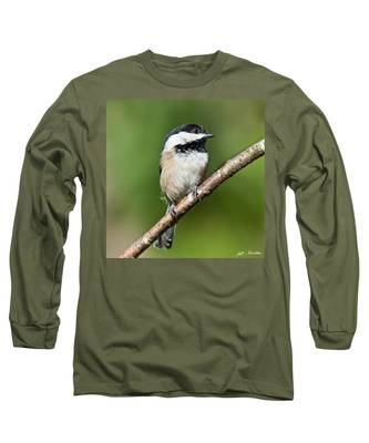 Black Capped Chickadee Long Sleeve T-Shirt