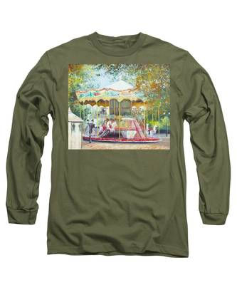 Carousel In Montmartre Paris Long Sleeve T-Shirt