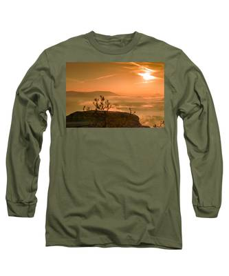 Early Morning On The Lilienstein Long Sleeve T-Shirt