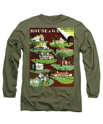 House & Garden Cover Illustration Of 9 Houses Long Sleeve T-Shirt