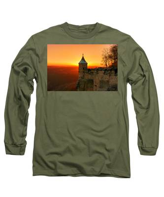 Low Sun On The Fortress Koenigstein Long Sleeve T-Shirt