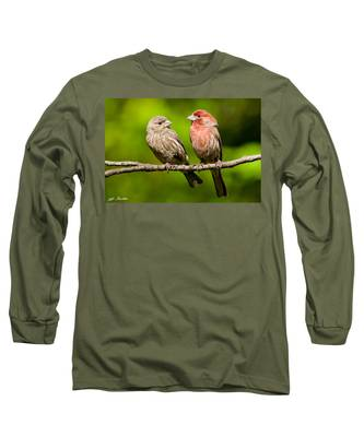 Pair Of House Finches In A Tree Long Sleeve T-Shirt