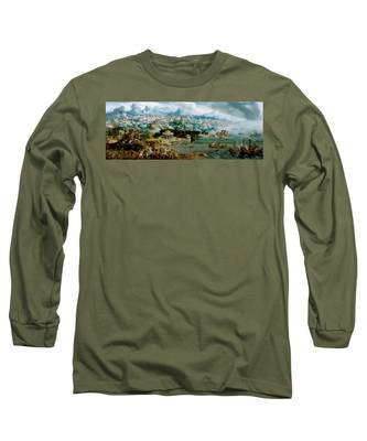 Panorama With The Abduction Of Helen Amidst The Wonders Of The Ancient World Long Sleeve T-Shirt
