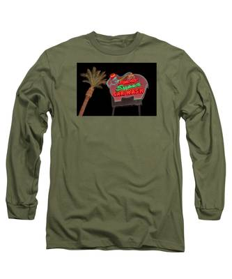 Pink Elephant Car Wash 36 X 24 Long Sleeve T-Shirt