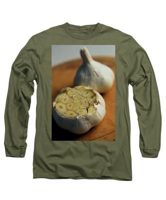 Two Heads Of Garlic Long Sleeve T-Shirt