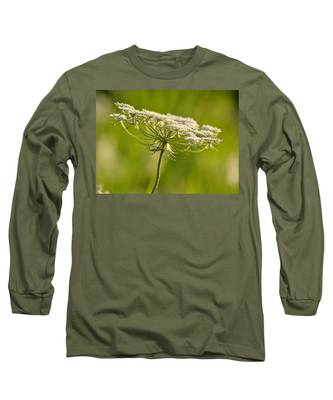 Lacy White Flower Long Sleeve T-Shirt