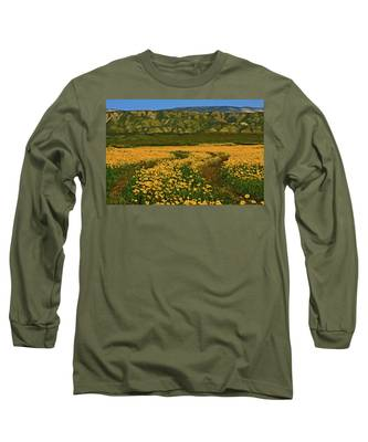 Path Through The Wildflowers Long Sleeve T-Shirt