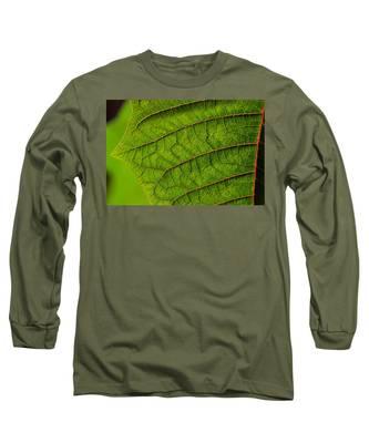 Poinsettia Leaf I Long Sleeve T-Shirt