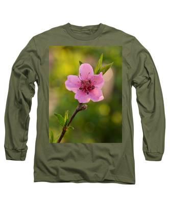 Pretty Pink Peach Long Sleeve T-Shirt
