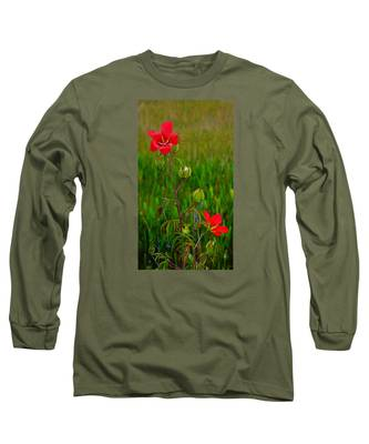 Texas Star Hibiscus Long Sleeve T-Shirt