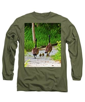 A Family Stroll Long Sleeve T-Shirt