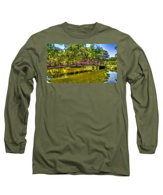 Bridge Over Delaware Canal At Colonial Park Long Sleeve T-Shirt