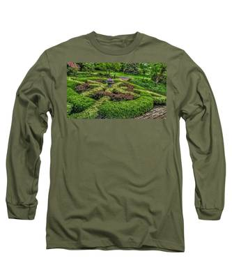 Celtic Topiary At Frelinghuysen Arboretum Long Sleeve T-Shirt