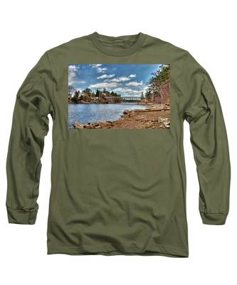 Chain Bridge On The Merrimack Long Sleeve T-Shirt
