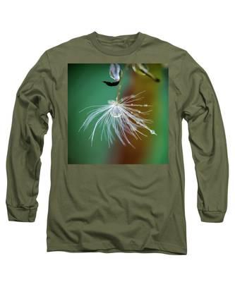 Dandelion Water Drop Macro 2 Long Sleeve T-Shirt