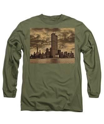 Downtown Manhattan Circa Nineteen Seventy Nine  Long Sleeve T-Shirt