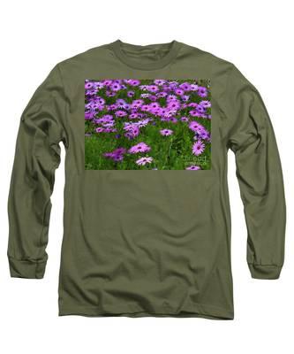 Dreaming Of Purple Daisies  Long Sleeve T-Shirt