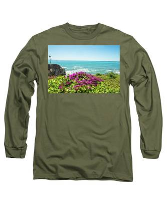 Flowers On The Cliff Long Sleeve T-Shirt