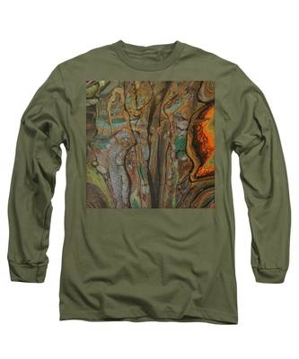 Long Sleeve T-Shirt featuring the painting Fluid Rock by Vicki Winchester