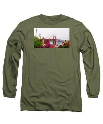 Golden Gate Bridge Flowers 2 Long Sleeve T-Shirt