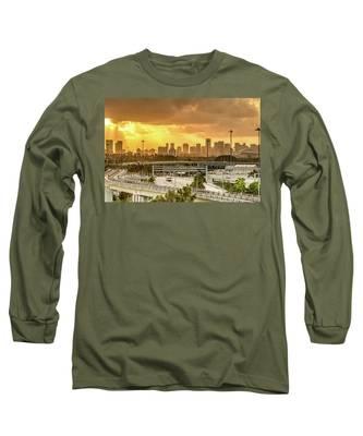 Miami City Sunrise Long Sleeve T-Shirt