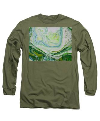 Long Sleeve T-Shirt featuring the painting Green by Vicki Winchester