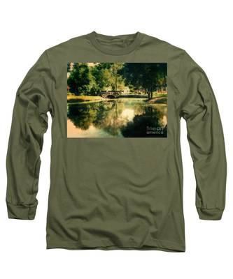 Heckscher Park Pond, Huntington Ny Long Sleeve T-Shirt