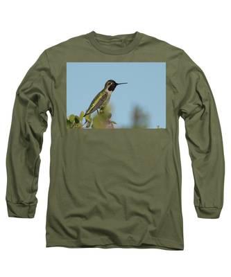 Hummingbird On Watch Long Sleeve T-Shirt