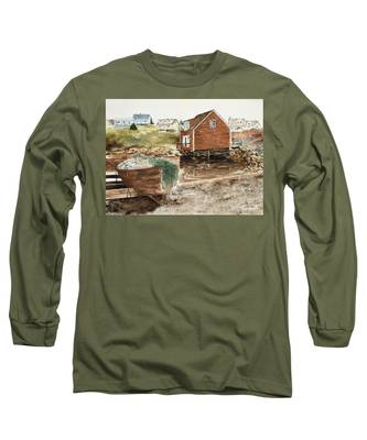 Inlet At Peggy's Cove Long Sleeve T-Shirt