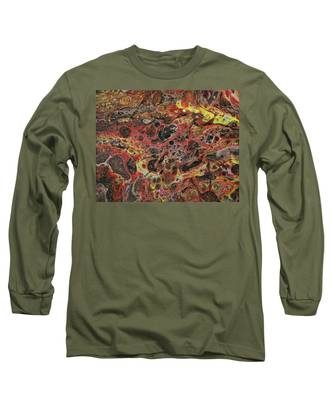 Long Sleeve T-Shirt featuring the painting Lava Rock by Vicki Winchester