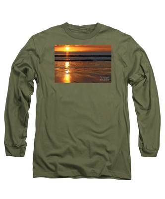 Llangennith Beach Sand Textures Long Sleeve T-Shirt