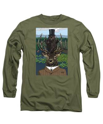 Lord Of The Manor With Hidden Pictures Long Sleeve T-Shirt