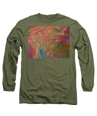 Long Sleeve T-Shirt featuring the painting Mixed Rainbow by Vicki Winchester