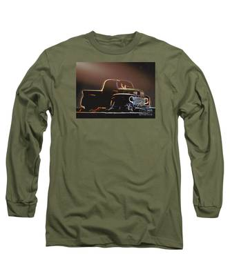 Old Sketched Pickup Long Sleeve T-Shirt