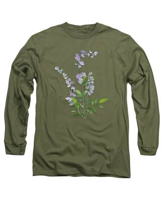 Purple Tiny Flowers Long Sleeve T-Shirt
