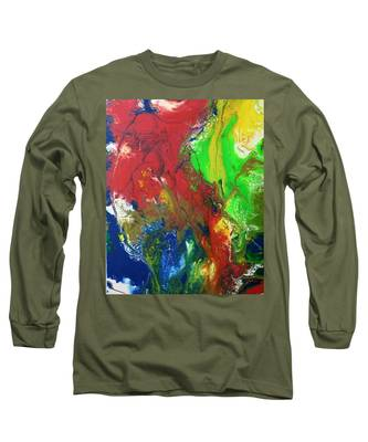 Long Sleeve T-Shirt featuring the painting Rainbow Mix by Vicki Winchester