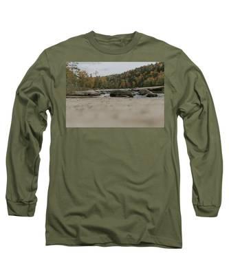 Rocks On Cumberland River Long Sleeve T-Shirt