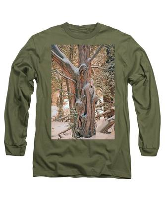 Snowy Dead Tree Long Sleeve T-Shirt