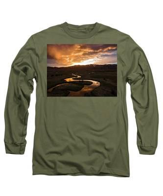 Sunrise Over Winding River Long Sleeve T-Shirt