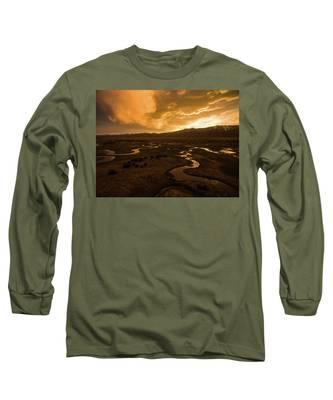 Sunrise Over Winding Rivers Long Sleeve T-Shirt