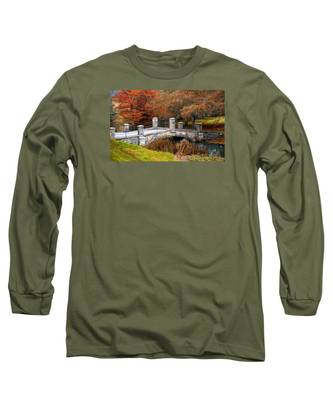 The Bridge To Autumn By Mike Hope Long Sleeve T-Shirt