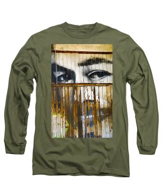 Long Sleeve T-Shirt featuring the photograph The Walls Have Eyes by Skip Hunt