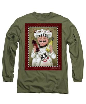 Wine Chef-wine For Two Long Sleeve T-Shirt