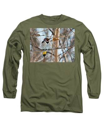 Yellow-shafted Northern Flicker Staying Warm Long Sleeve T-Shirt