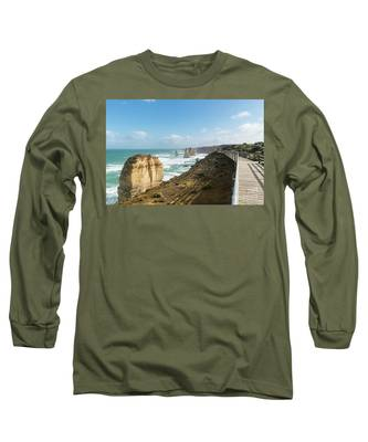 Twelve Apostles Sea Rocks Long Sleeve T-Shirt by Didier Marti