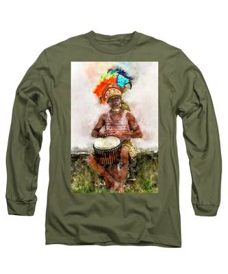 Antiguan Drummer Long Sleeve T-Shirt
