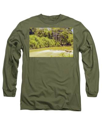 Country River In Trelawny Jamaica Long Sleeve T-Shirt